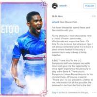 We knew Samuel Eto'o's open letter to Sampdoria fans looked familiar