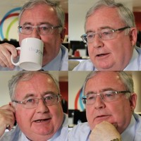 Pat Rabbitte's face doesn't always reflect his inner happiness