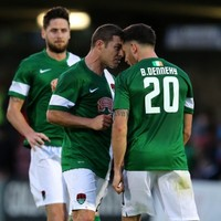 Cork City players squared up to each other after last night's Europa League draw