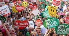 Thousands turn out for pro-life rally in Dublin as website hacked