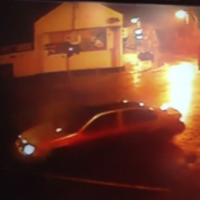 This Clones car was caught on camera smashing into traffic lights last night