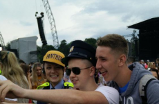 The Gardaí were busy taking selfies and seizing naggins at Marlay Park last night
