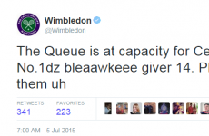 Was the official Wimbledon account drunk tweeting this morning?