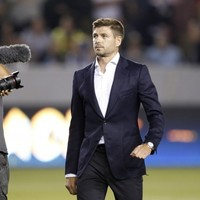 Sound man Steven Gerrard sent LA Galaxy fans a feed of beer before their game last night