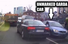 Impatient driver recklessly overtakes truck in Dublin… right into the teeth of an unmarked Garda car