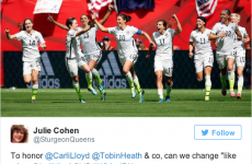 The phrase 'play like a girl' was brilliantly redefined on the internet last night