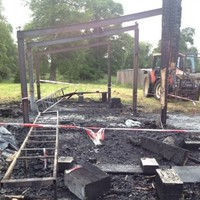 Club ruined by fire are down to their last two footballs...