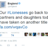 "The England Twitter account is getting a lot of heat for describing their footballers as ""mothers, partners and daughters"""