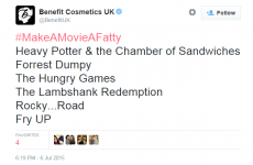 Benefit upset a lot of people by joining in on a 'fat-shaming' Twitter hashtag