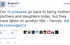 England tried to welcome home their women's football team, but failed hard