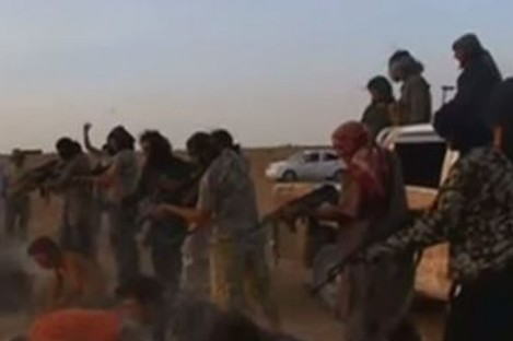 An actual Islamic State execution (not the HSBC incident).