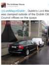 Dublin Lord Mayor's car clamped... outside city council offices