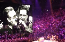 U2 invited their own tribute band to perform on stage and they had the time of their lives