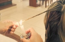 Women are burning their hair with candles to get rid of split ends