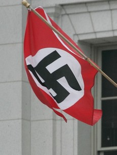 Unionists condemn 'evil' Swastika flown near Loyalist bonfire