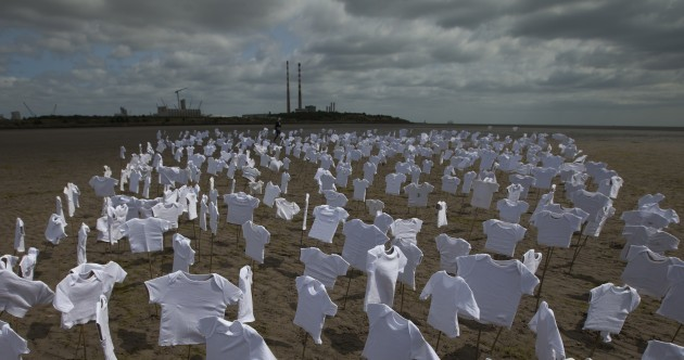 This haunting installation - using 556 baby vests - had people talking in Dublin today