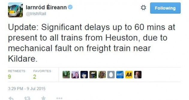 There are major delays to trains out of Dublin - and people aren't happy
