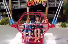 The heartstopping moment a bungee cord snapped on a catapult ride
