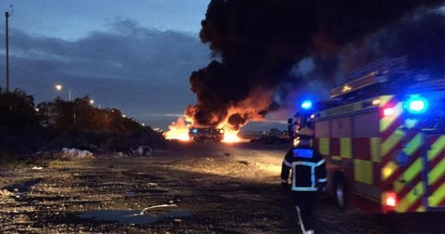 Large fire near Dublin Airport brought under control