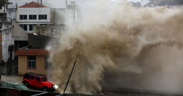 Almost a million people have been evacuated from China's east coast