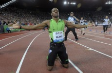 WATCH: Yohan Blake beats Powell, runs new PB of 9.82