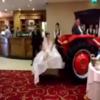 A Sligo bride arrived into her wedding venue on the back of a tractor
