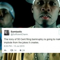 50 Cent declared himself bankrupt and the internet quickly reacted