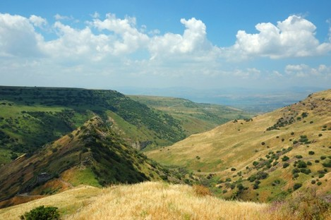The Israeli national park at Gamla in the Golan Heights