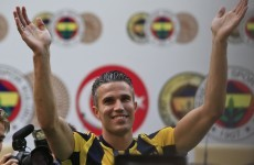 Robin van Persie's unveiling at Fenerbahce may have been slightly premature