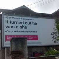 Three have been forced to apologise for any offence caused by this 'transphobic' billboard