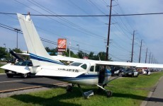 Watch: This plane made an emergency landing on a busy road