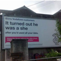 Three apologises after criticism of ad as transphobic