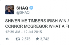 So, Shaquille O'Neal seems to think that Irish people are pirates...