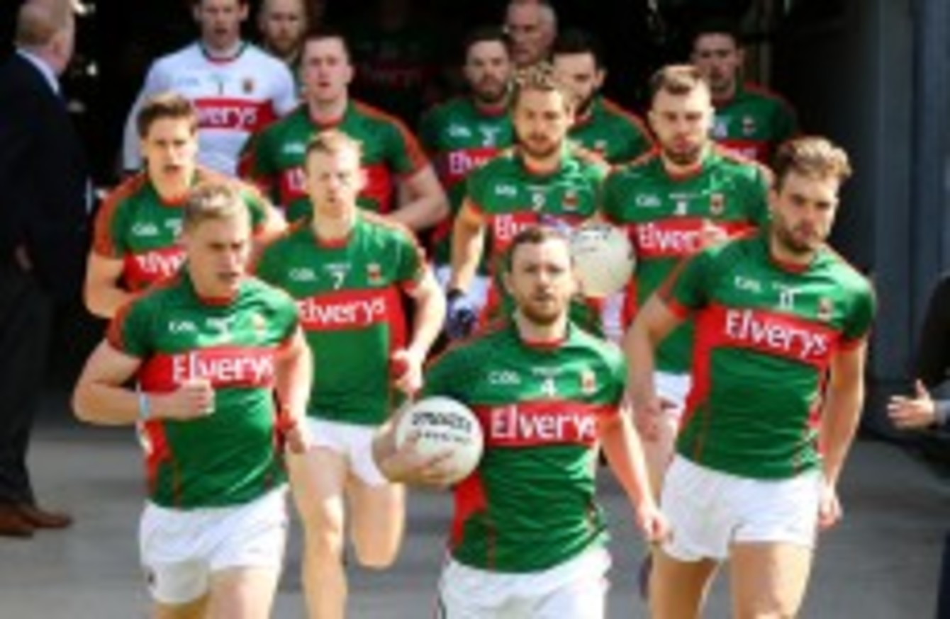 Reigning champions Mayo make two changes for Sunday's Connacht final