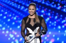Ronda Rousey destroyed Floyd Mayweather after beating him to a 'Best Fighter' award