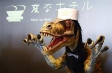 A Japanese hotel has robot dinosaur staff