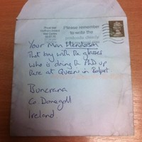 This genius Donegal postman actually managed to deliver this letter