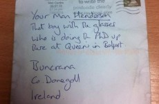 This letter to 'your man Henderson' actually got delivered to the right person