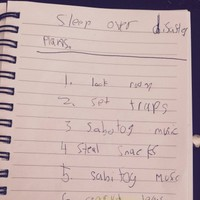 A little boy concocted an evil plan to sabotage his sister's sleepover...