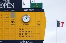 Play at St Andrews to resume after 5pm but The Open will have a Monday finish