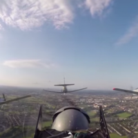 Here is the view you would have if you were a fighter pilot