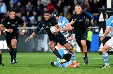 World Cup over for All Blacks winger after broken leg on debut