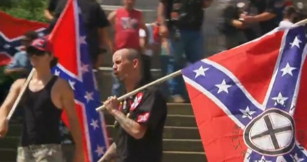 Scuffles between KKK and Black Panther groups at South Carolina Confederate flag protest