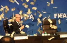 Make it rain! Somebody just threw a big wad of cash over Sepp Blatter
