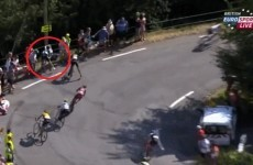 Sky rider somehow finished his Tour de France stage after this awful crash