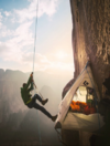 No wonder nobody ever free-climbed this cliff before, these photos are terrifying