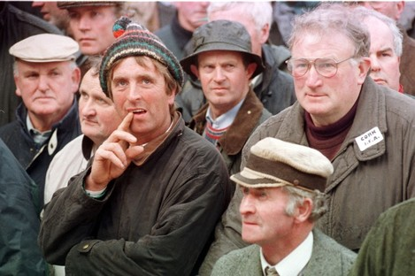 Farmers protest in Dublin, 1998