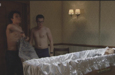 Eastenders has defended itself after a funeral home gay sex scene