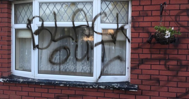 Family driven from Dublin home after 'blacks out' graffiti scrawled on front window