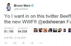 Ed Sheeran and Bruno Mars got into a Twitter beef last night... it's The Dredge